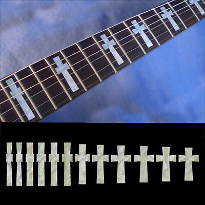 Fret Markers Neck Inlay Sticker Decal Guitar & Bass - G400 Tony Iommi Cross