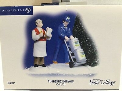 Dept 56 Snow Village® YUENGLING DELIVERY Set of 2 -  BRAND NEW SEALED