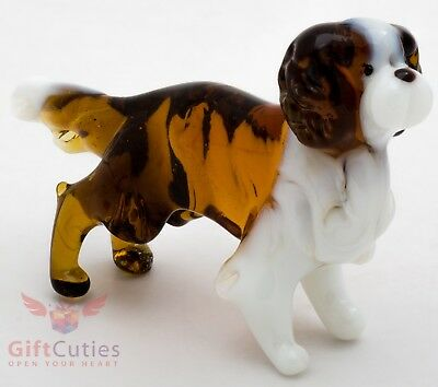 Art Blown Glass Figurine of the Cavalier King Charles Spaniel dog