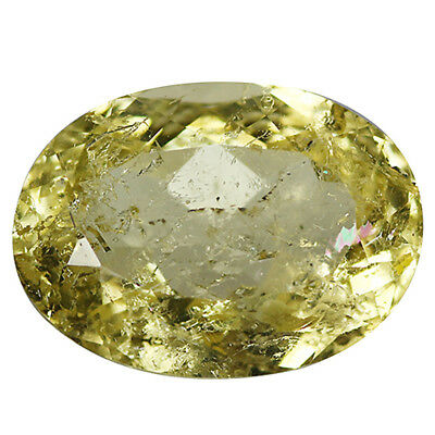 5.81Ct I-1 Oval Cut 14 x 10 mm 100% Natural Yellow Beryl