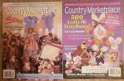 COUNTRY MARKETPLACE Magazines. Lot of 2 , VG Condition w/patterns .  Vintage