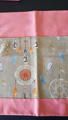School chair bag dreamcatcher on pink Free first name.  Free postage.