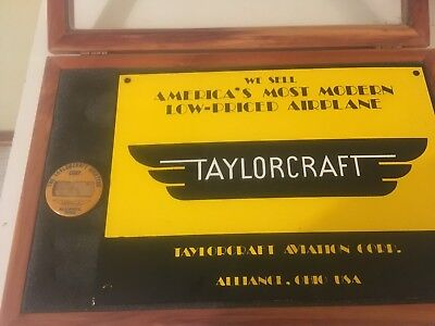 Taylorcraft aviation sign  with Badge  Alliance   Ohio