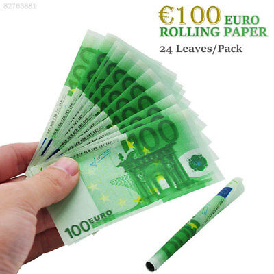 5CF6 EURO 100 Bill Smoking Rolling Papers Creative 24pcs/Pack Hand Rolled