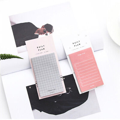 Daily Plan To Do List Weekly Monthly Memo Pad Sticky Notes Bookmark Planner TO