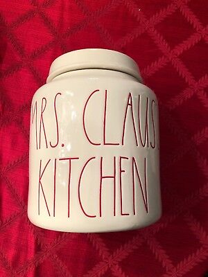 New!! Rae Dunn Mrs Claus Kitchen 2018 Christmas Canister
