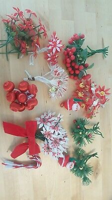 Huge Lot Vintage Christmas Package Tie-On Decorations