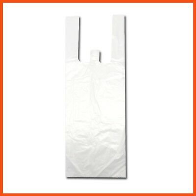 5000pcs PLASTIC BAGS BULK SINGLET CARRY GROCERY CHECKOUT SHOPPING BAG 40x15x12cm
