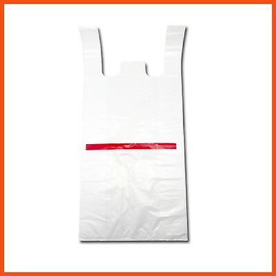 1000pcs PLASTIC BAGS BULK SINGLET CARRY GROCERY CHECKOUT SHOPPING BAG 52x26x13cm