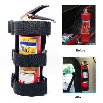 Car Fire Extinguisher Fixing Holder Belt Adjustable For Automobile Jeep Wrangler