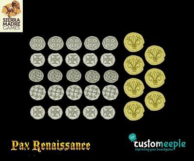 Customeeple Game Accessory Pax Renaissance Deluxe Coins - West MINT