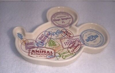 Disney Parks Mickey Mouse Icon Ceramic Tray 4 parks  NEW