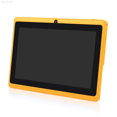 "DC15 7"" inch A33 Android 4.4 HDMI Tablet PC Quad Core DUAL CAMERA 4G US YELLOW H"