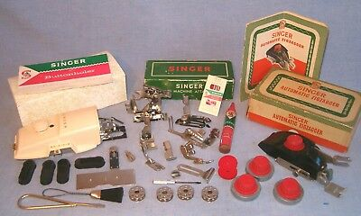 Singer Sewing 301a Machine Attachments Set & Zigzagger & Buttonholer & Extras