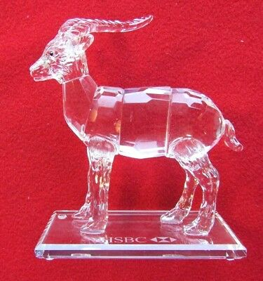 """CRYSTAL ORNAMENT """" MOUNTAIN GOAT """"  ENDANGERED SPECIES  HSBC Perfect"""