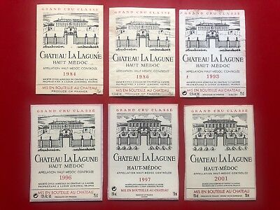 6 étiquettes / wine labels LA LAGUNE 1997 2001...