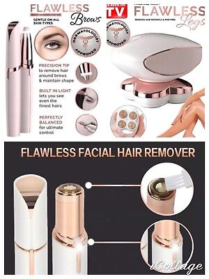 Finishing Touch Flawless Hair Remover Face,Legs,Eyebrow Epilator USB AUPLUG