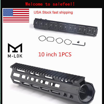 "US 10"" Ultralight Free Float M-LOK Handguard Rail & barrel Nut for Rifle Scope"