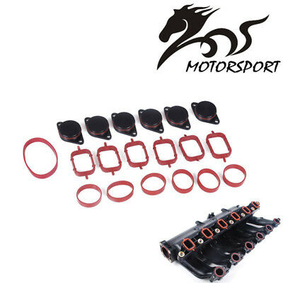 6 x 33mm for BMW M57 SWIRL BLANKS FLAPS repair delete kit with intake gaskets