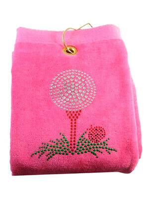 Navika Bling Golf Tee Golf Towel Pink