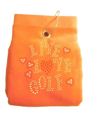 Navika Bling Live Love Golf Golf Towel Orange
