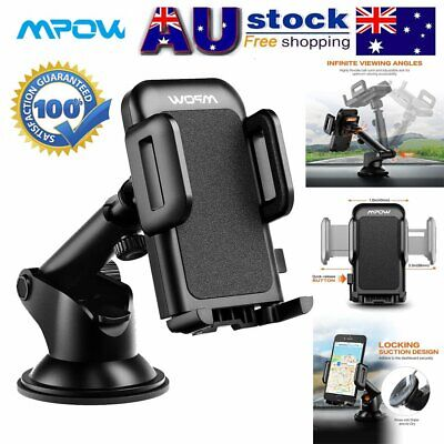 Mpow 360° Mount Holder Car Windshield Stand For Smart Phone GPS iPhone Samsung