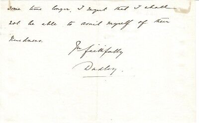 W H Ward - Earl of Dudley - Governor-General of Australia - end of letter signed
