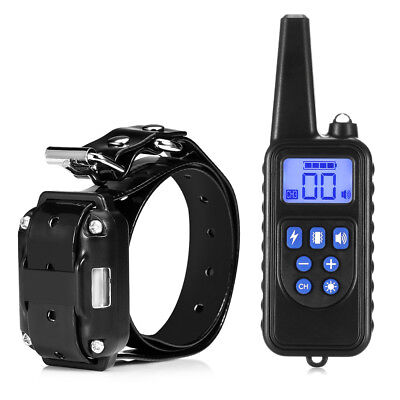 800m Waterproof Rechargeable Dog Training e-Collar Remote Control LCD Display