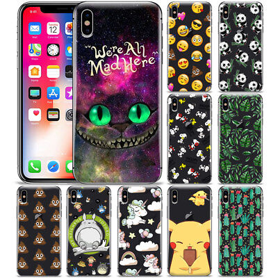 Cartoon Unicorn Cheshire Cat Pattern Phone Case Cover For iPhone X XR XS MAX