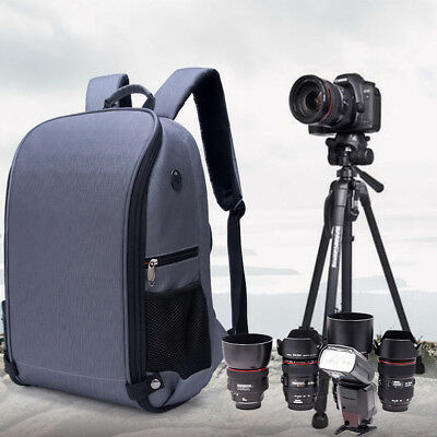 Concept Camera Photo Backpack Bag Case Waterproof Anti-theft for Canon Nikon