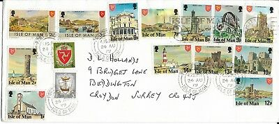 Isle of Man Cover with 15 Stamps