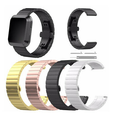 Solid Stainless Steel Watch Wrist Band Strap For Versa Smart Watch A1