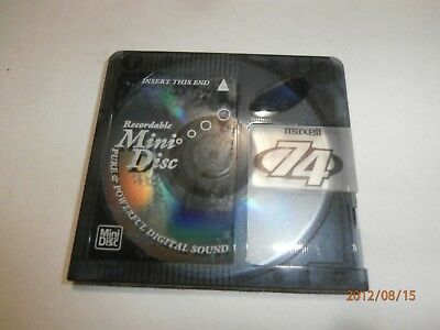 1x MAXELL 74min MINI DISC RECORDING BLUE 74 MINUTES MINIDISC MD COLOR - $2 POST