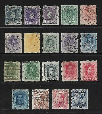 SPAIN mixed collection No.45, early, 1900-1930, used