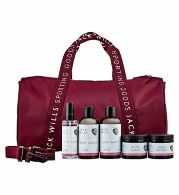 Jack Wills Ladies' Gym Bag Gift Set Spray Wash Butter Scrub Scent Five Christmas