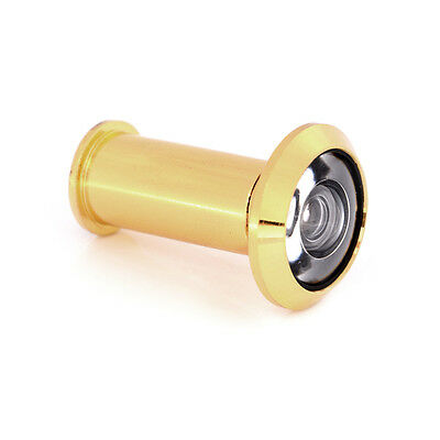 200Degree Wide Angle Peephole Door Viewer Gold-plate Furniture Hardware Eye、New