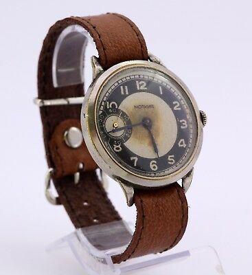 1950's Old collectable Molnija USSR wristwatch with RARE caliber ChK-6 subsecond
