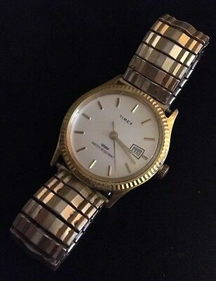 Timex Watch Vintage Mens Gold Tone Mechanical 10K Gold Filled Band
