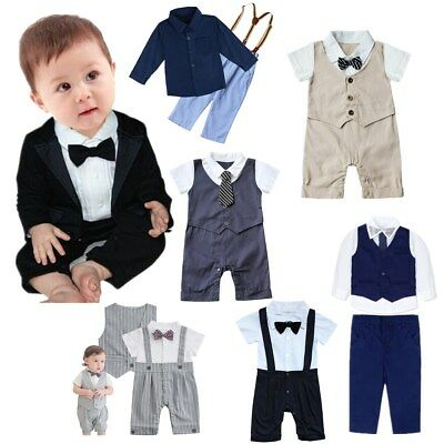 Baby Boys Suits Wedding Suit Page Boy Waistcoat Suit Formal Party Suits Bow Tie