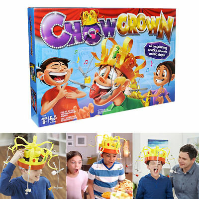 Family Chow Crown Game Hat Filled Of Suspense Musical Food Challenge Fun Toy