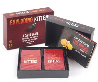 Exploding Kittens Card Game Original Edition New PERFECT CHRISTMAS GIFT FreeShip