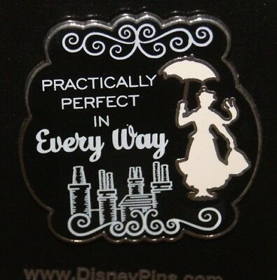 Disney Park Mary Poppins Practically Perfect In Every Way Pin New On Card