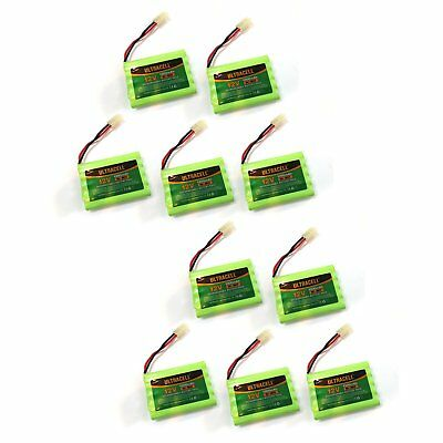 10x 12V 1300mAh NI-MH Rechargeable Battery Pack Ultracell Tamiya Plug