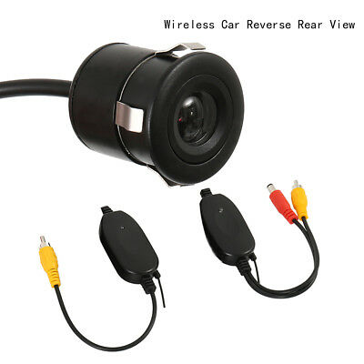 2.4Ghz Wireless Transmitter Receiver + Car Reverse Camera Rear View Monitor US