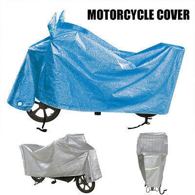 XXL Aquatex Motorcycle Waterproof Outdoor Cover Large Motorbike Scooter Blue NEW