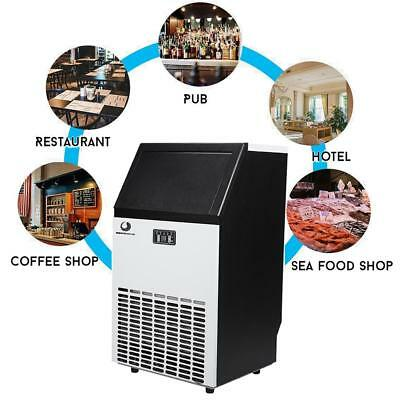 Stainless Steel Commercial 100Lbs Undercounter Ice Maker Machine Air Cooled Cub