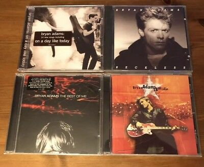 Bryan Adams cd bundle X4 Reckless, 18 Til I Die, Best Of, On A Day Like Today