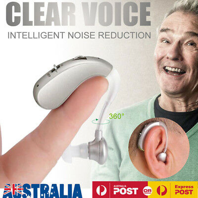 Rechargeable Digital Hearing Aid Severe Loss Invisible BTE Ear Aids High-Power Q