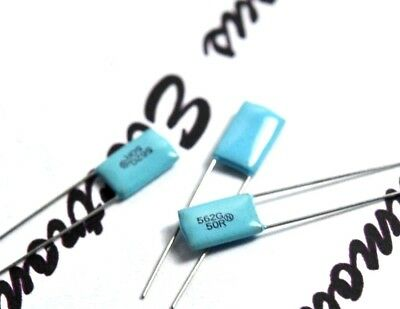 1000pF 1nF 50V 2/%  Film Capacitor NISSEI AWS 1000P NOS For Audio 10pcs