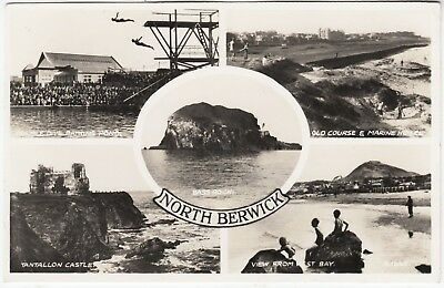 NORTH BERWICK - Valentine's Multi View - #A1665 - 1955 used real photo postcard
